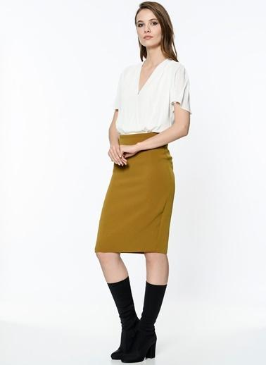 Anvelop Kısa Kollu Elbise-Setre